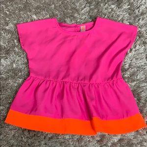 💐Cherokee • girls peplum color block top